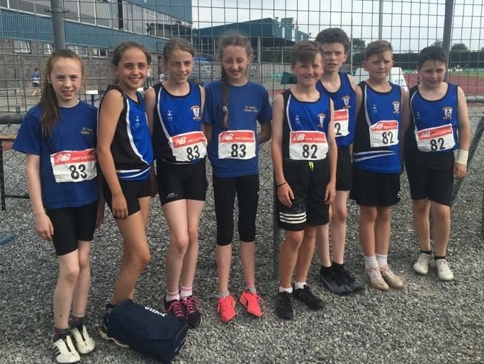 St Peter's AC athletes at Leinster Juvenile Team Event (Tullamore, June 2016)