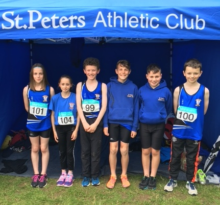 St Peter's AC athletes at Irish Juvenile
