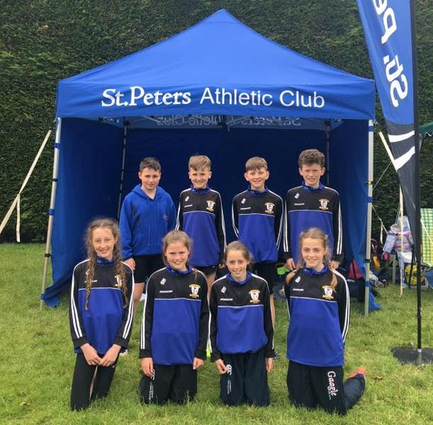 St Peter's AC athletes at Leinster Juvenile Team Event (Tullamore, June 2017)