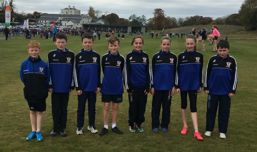 St Peter's AC athletes at Leinster Cross Country Championships (Tyrrellspass, October 2016)