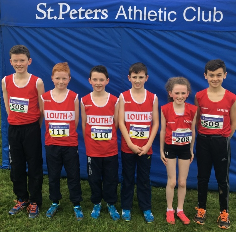 St Peter's AC athletes at Irish Cross Country Championships (Waterford, December 2017)